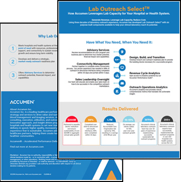 Thumbnail for Leverage Your Lab Capacity with Accumen's Lab Outreach Select™