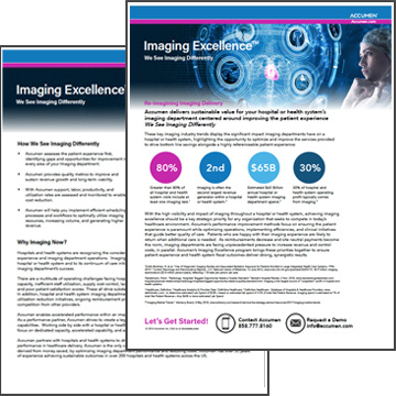 Thumbnail for Imaging Excellence™ Overview Brochure